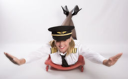 Airline officer and concept of flying Stock Photography