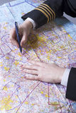 Airline officer route planning Royalty Free Stock Photography