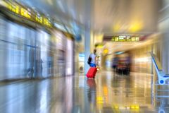 Airline Passenger Royalty Free Stock Photography