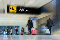 Airline Passengers Stock Images