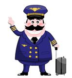 Airline Pilot. Cartoon airline pilot isolated on white background. You can find other illustrations featuring this character in my portfolio. Eps file is Stock Photos