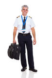 Airline pilot briefcase Royalty Free Stock Photography