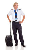 Airline pilot briefcase Royalty Free Stock Images