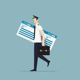 Airline Pilot. Royalty Free Stock Photography