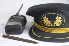 Airline pilot hat Stock Image