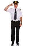 Airline pilot salute. Stock Image