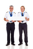 Airline pilots banner Royalty Free Stock Photo