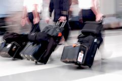 Airline Pilots in Motion Royalty Free Stock Photography