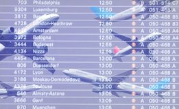Airline Schedule Royalty Free Stock Photography