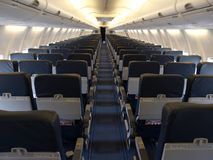 Airline seats Royalty Free Stock Photography
