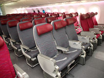 Airline seats Royalty Free Stock Images