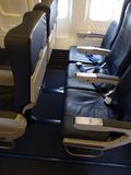 Airline seats royalty free stock image
