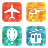 Airline service transport icons Stock Photography