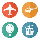 Airline service transport related icons Royalty Free Stock Images