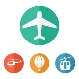 Airline service transport related icons Stock Photos