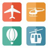 Airline service transport related icons Stock Images