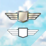 Airline Silver Logo Concept Royalty Free Stock Image