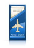 Airline ticket. Illustration isolated on white background Royalty Free Stock Photography