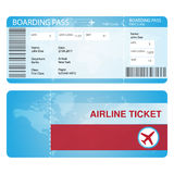 Airline ticket concept mock for any uses Royalty Free Stock Image