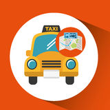 Airline ticket map travel taxi cab Stock Photos