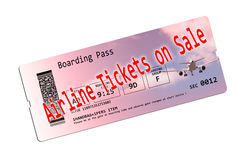 Airline ticket on sale Royalty Free Stock Photos