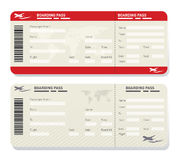 Airline ticket template Stock Image