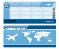 Airline ticket. On white background. Illustration Stock Images