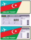 Airline tickets for flight to Azerbaijan Stock Images