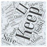 Airline Tickets And Theme Parks word cloud concept  background. Text Stock Photo