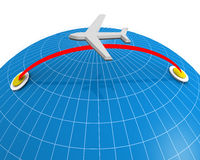 Airline Travel and Holiday Concept Stock Image