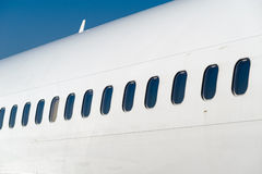 Airline windows Stock Photography