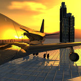 Airliner royalty free stock image