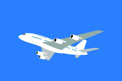 Airliner. Large airliner over blue sky background Stock Images