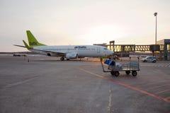 airliner Imagen de archivo libre de regalías
