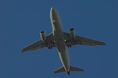 Airliner. A passenger airplaned landing Royalty Free Stock Images