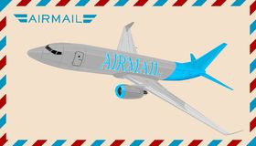 Airplane. Vector illustration. Stock Photos