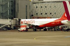Airliner by Airberlin Royalty Free Stock Photo