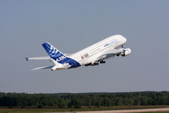 Airliner Airbus A-380 Stock Photos