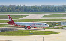 Airliner Airbus A321 of Air Berlin low-cost airline Royalty Free Stock Photography