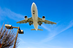 Airliner Airplane Traveling Stock Photo