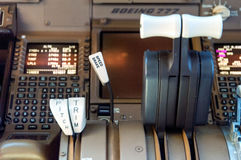Airliner cockpit details Royalty Free Stock Images