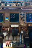 Airliner cockpit details Stock Images