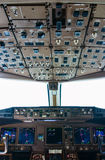 Airliner cockpit details Royalty Free Stock Photography