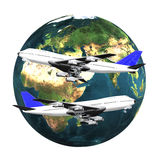 Airliner with earth Royalty Free Stock Photography