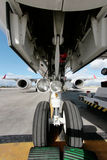Airliner Embraer front landing gear Stock Photos