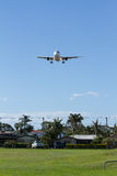 Airliner Landing at Gold Coast Airport, Australia Stock Photo