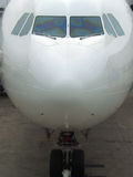 Airliner nose and landing gear Royalty Free Stock Image