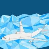 Airliner plane falling stock illustration