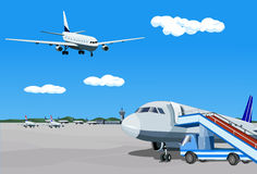 Airliner-preparing Royalty Free Stock Image