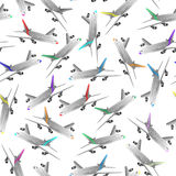 Airliner seamless patter Royalty Free Stock Photos